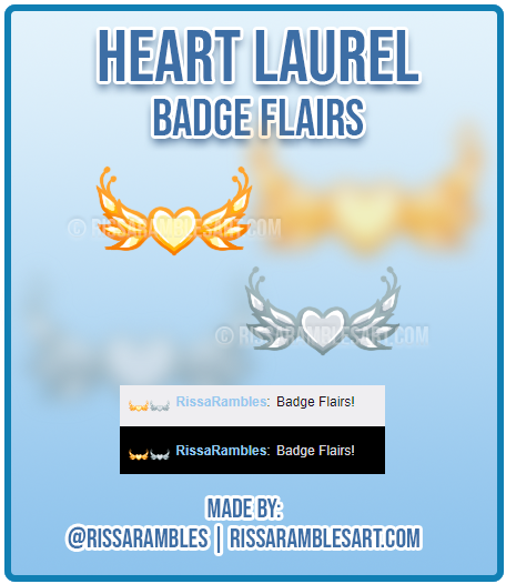 Heart Twitch Badge Flairs | Subscriber Badge Flairs | Custom Twitch Emotes | RissaRambles