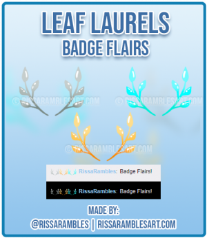 Leaf Laurels | Twitch Badge Flairs | Twitch Emotes | RissaRambles