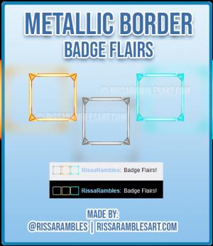 Metallic Border Twitch Badge Flairs | Custom Twitch Emotes | RissaRambles