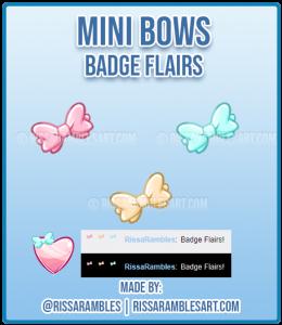 Mini Bows | Kawaii | Twitch Badge Flairs | RissaRambles