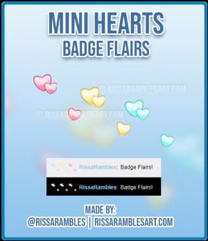 Mini Hearts Twitch Badge Flairs | Kawaii Badges | Custom Twitch Emotes | RissaRambles