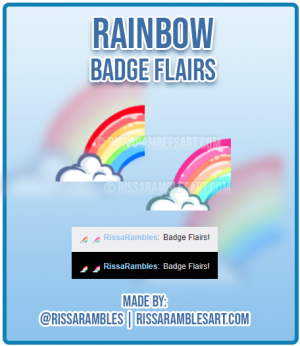 Raimbow Badge Flairs | Twitch Emotes | Twitch Sub Badges | RissaRambles
