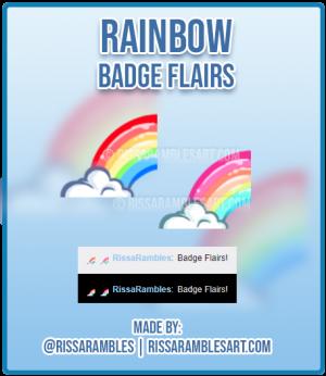 Raimbow Badge Flairs | Twitch Emotes | Twitch Sub Badges | RissaRambles