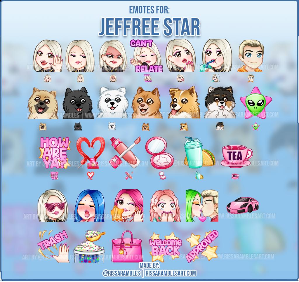 Jeffree Star Emotes | Custom Twitch Emotes | Jeffree Star & Shane Dawson | Jeffree Star Cosmetics
