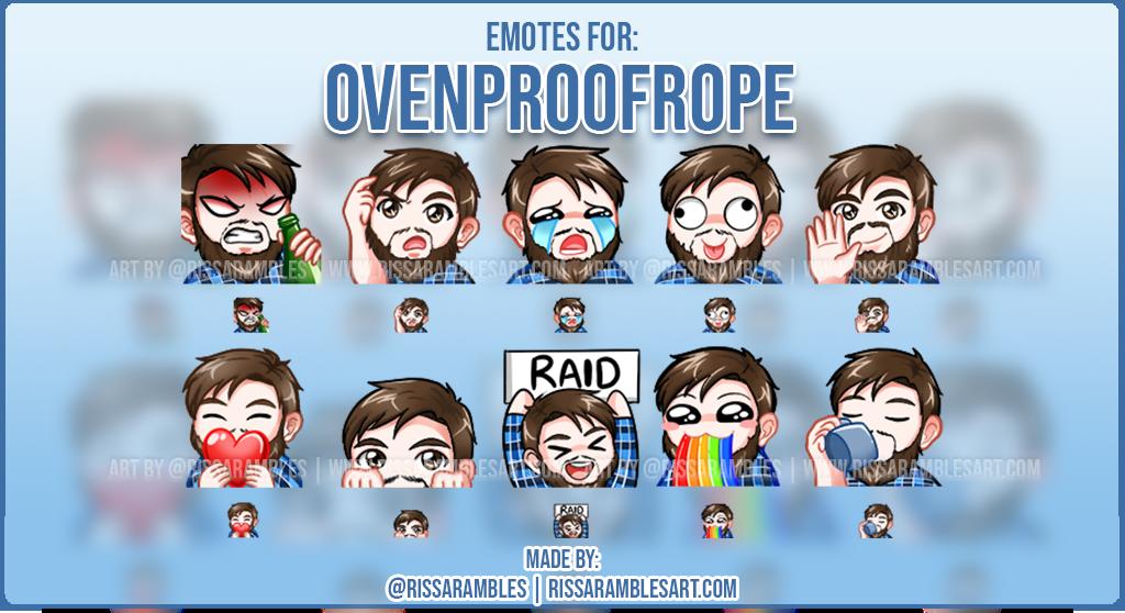 Ovenproofrope Emotes | Lumberjack Emotes | Custom Twitch Emotes | Twitch Emote Artist - RissaRambles