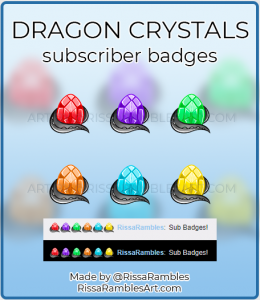 Dragon Egg Sub Badges | Twitch Sub Badges for Sale | RissaRambles