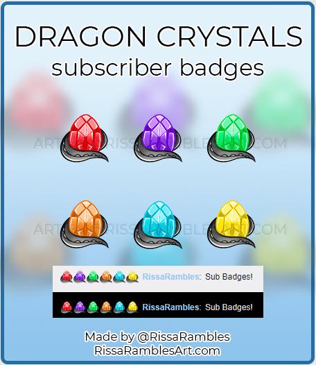 Dragon Egg Sub Badges   Twitch Sub Badges for Sale   RissaRambles