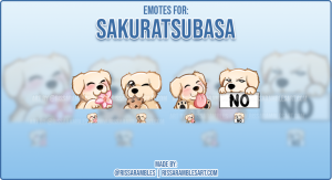 Dog Twitch Emotes | Custom Twitch Emotes | Emote Artist RissaRambles