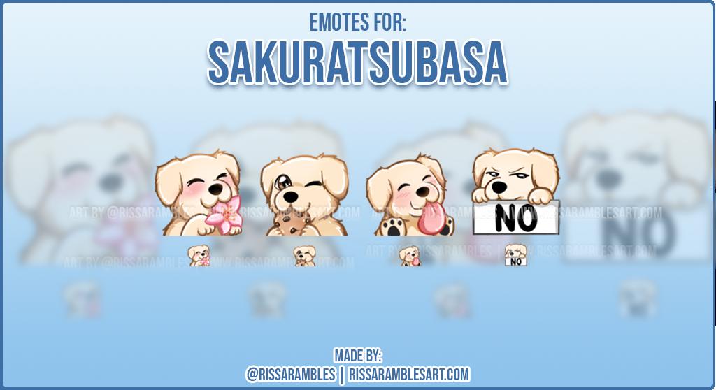 Dog Twitch Emotes   Custom Twitch Emotes   Emote Artist RissaRambles