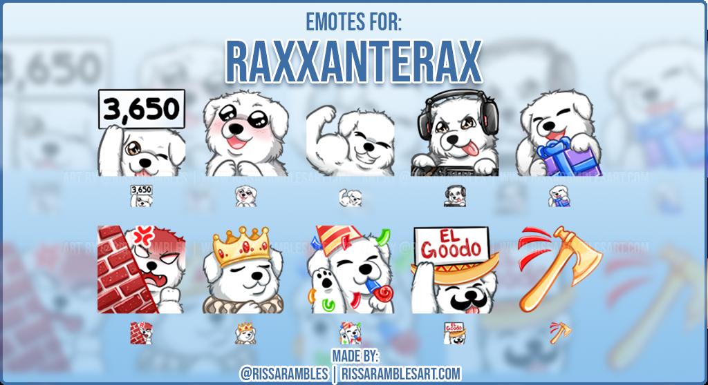 Dog Twitch Emotes | Custom Twitch Emotes | Emote Artist RissaRambles