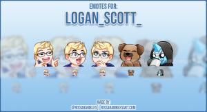 Custom Twitch Emote Logan_scott_ | Emotes and Badges for Twitch | RissaRambles
