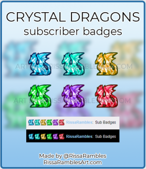 Dragon Twitch Sub Badges