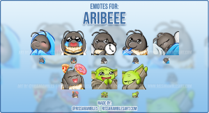 Custom Bee Twitch Emotes Aribee | Emotes and Badges for Twitch | RissaRambles