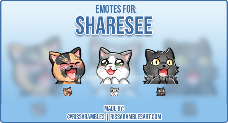Custom Cat Twitch Emotes | Emotes and Badges for Twitch | RissaRambles