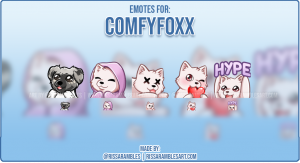 Custom Fox Twitch Emotes | Emotes and Badges for Twitch | RissaRambles