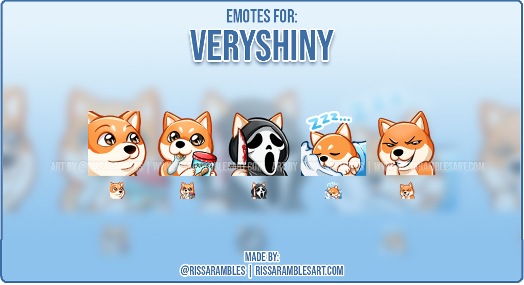 Custom Corgi Twitch Emotes | Emotes and Badges for Twitch | RissaRambles