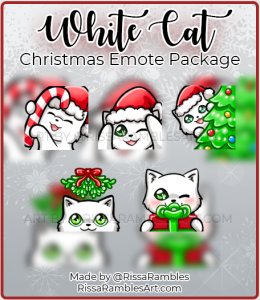 White Cat Twitch Emotes Download | RissaRambles