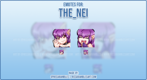 Anime Girl Kawaii Emotes | Wolf Emotes for AceUnhacked | Custom Twitch Emotes Artist RissaRambles