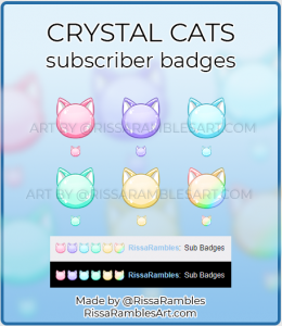 Crystal Cat Twitch Sub Badges | RissaRambles