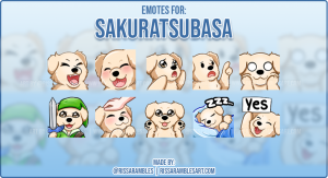 Puppy Emotes | Corgi Emotes | Twitch Emotes Artist RissaRambles