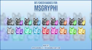 Twitch Bit Badges | Custom Emote Commissions | RissaRambles