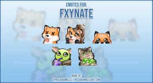 Kawaii Fox Emotes for Fxynate | Custom Twitch Emotes | RissaRambles
