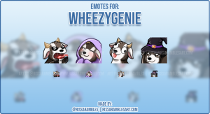 Kawaii Goat Twitch Emotes | RissaRambles