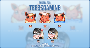 Pokemon Chibi Twitch Emotes TeebsGaming | RissaRambles