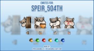 Squirrel Emotes | Twitch Emotes Cute | RissaRambles