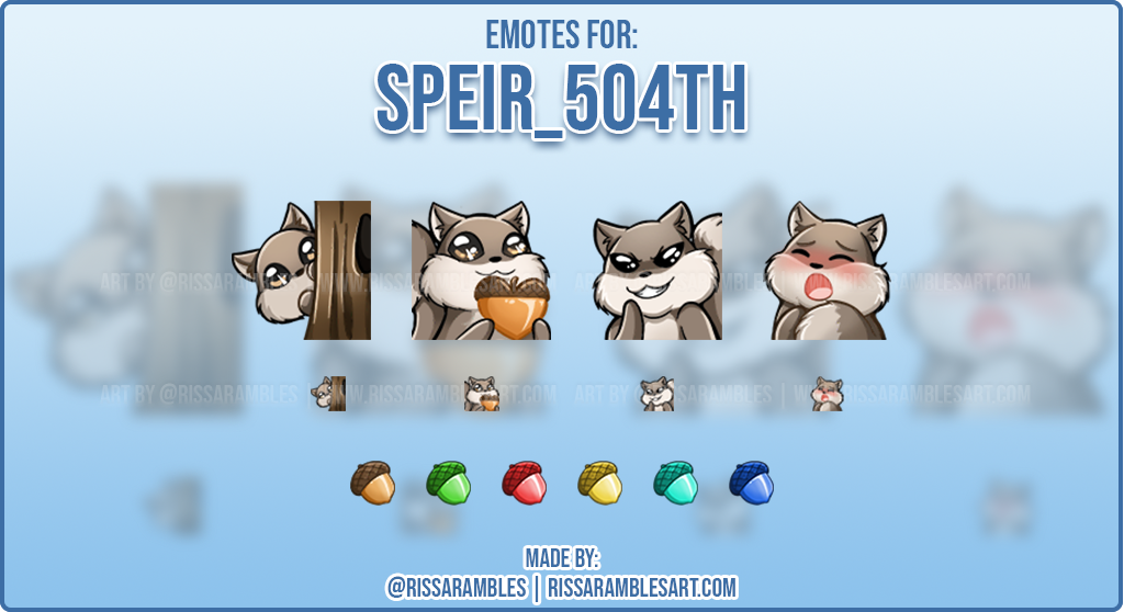 Squirrel Emotes | Twitch Emotes Cute | RissaRambles