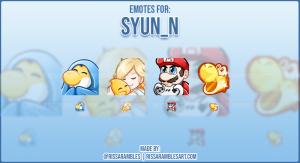 Super Mario Twitch Emotes | Syun_N Twitch Emotes | RissaRambles