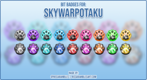 Twitch Cheermotes | Bit Badges | RissaRambles