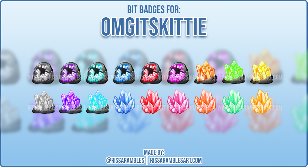 Custom Twitch Cheer Badges | Bit Badges for Twitch | RissaRambles