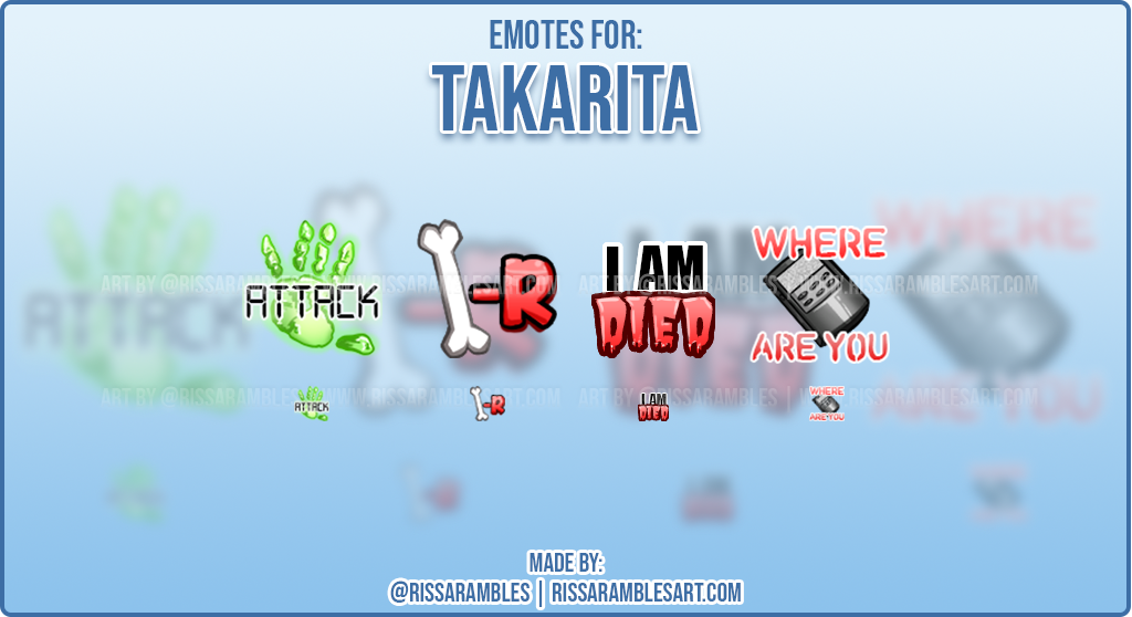 Phasmophobia Emotes | Custom Twitch Emotes | RissaRambles