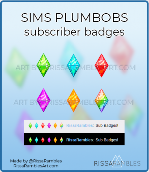 The Sims Plumbob Twitch Sub Badges for Sale | RissaRambles